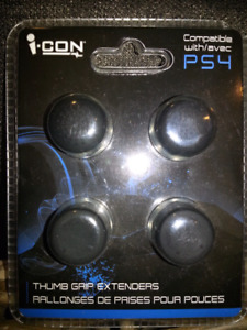 "-THUM GRIP EXTENDERS-,,,""COMPATIBLE WITH  PLAY STATION 4"" (PS4)"