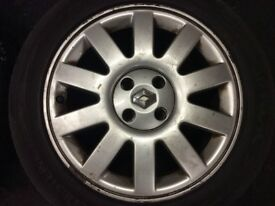 renault megane scenic alloys + tyres 205/50/16 4 stud