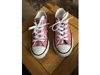 Pink glitter converse size 12