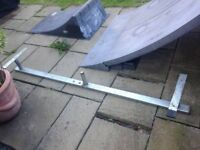 Osperys skateboard ramps with quarterpipe and grind rail.great fun for the summer holidays