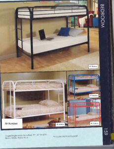 STRONG TUBULAR METAL BUNKBEDS - TWIN AND DOUBLE STYLES