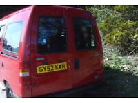 Fiat Scudo JTD SWB mobility van 2002-02-reg, 1997cc turbo diesel,new mot , 127,000 miles,