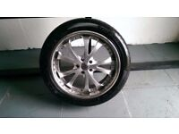 ALLOYS X 4 OF 20 INCH USED BUT IN GOOD CONDITION WITH GOODYEAR TYRES FITTED NICE WHEELS JAP FITMENT