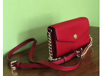 Michael Kors Red Leather Crossbody Phone Case Wallet Purse