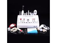 *8in1 Dermarbasion Ultrasonic Skin Scrubber High Frequency Galvanic Vacuum Beauty Spa Machine