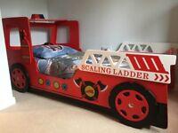 Children's fire engine bed frame