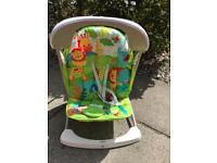 Fisher Price Take-Along Rainforest Musical Baby Rocker & Swing Chair.