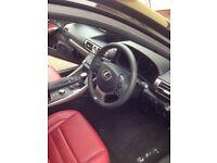 Lexus IS2500 F-Sport, 7800 miles, metallic black, red leather, sat nav, FSH.