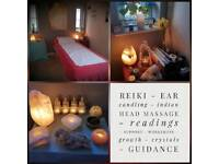 Reiki, salt lamps, holistic therapy, life coaching, healing, massage