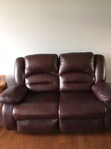 Reclining loveseat and two rocking reclining chairs