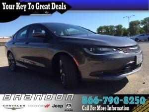 2016 Chrysler 200 S - Low Mileage, Power Seats, Sunroof, 8.4 Tou