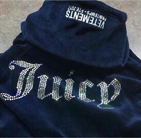 Juicy couture x vetements size small navy blue hoodie