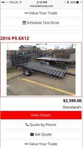 2016 shoreland'r 6x12 trailer