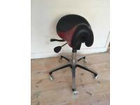 Saddle stool ergonomic therapy back pain
