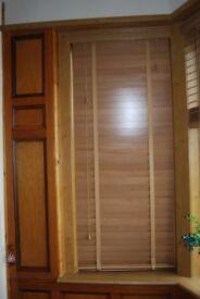 Wooden venetian blinds ,2 widths.
