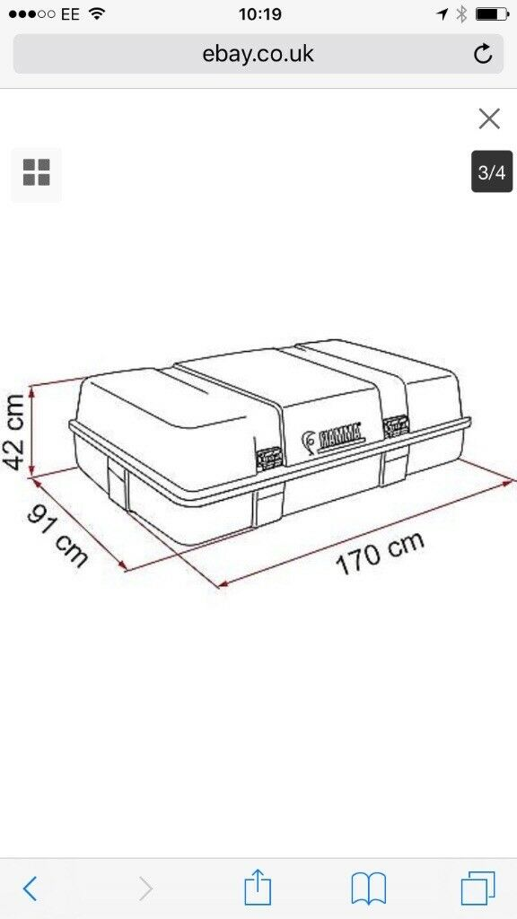 Fiamma ultra storage box and 305cm awning motorhome caravan