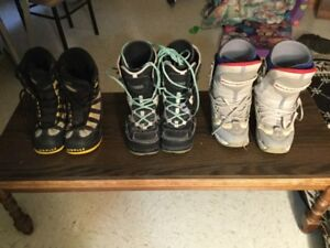 3 pairs of boots - prices vary