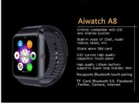 Ai smart watch iOS & Android compatible sim card slot water resistant BRAND NEW Black