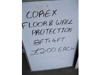 Sheets Of Black 8x4 Corex For Sale Brand New Sheets. (Only £2 Each)