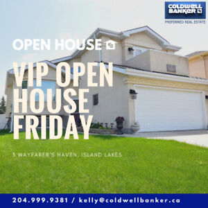 Open House TODAY - 12pm to 3pm in Island Lakes