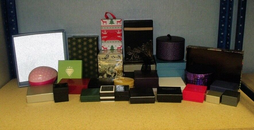 25 + assorted gift - jewellery boxes various - shapes and sizes