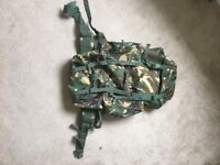 Camouflage Army-Style Backpack / Rucksack - great condition