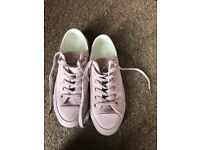 Converse All Star Low Leather Burnished Lilac Rose Gold Exclusive