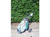 Mens Golf Clubs, Bag & Trolley