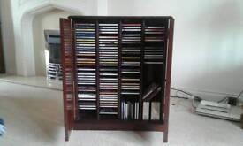 Mock antique cabinet . Cd unit