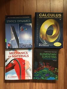 First year civil/mechanical engineering textbooks