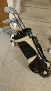 Left handed knight tectra golf clubs with bag