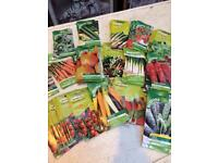 82 packs of Assorted vegetable seeds