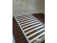 Single White Metal Bed Frame - as new