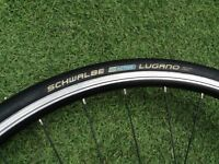 700 GIANT Front Wheel for Road Racing or Hybrid bike + top condition Schwalbe Tyre + quick release