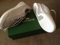 Ladies Lacoste Trainers size 6. Never been worn.