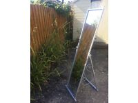 Free standing mirror silver colour