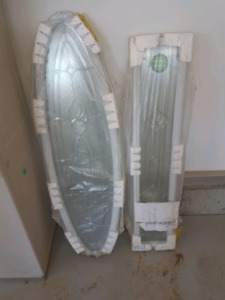 Decorative glass inserts for door