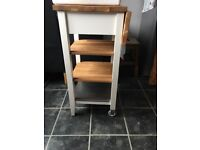 Ikea wooden trolley