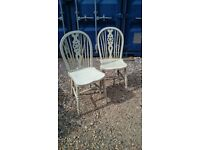 PR VINTAGE PAINTED KITCHEN CHAIRS