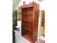 A very solid tall wooden book case
