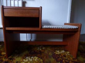 Telephone seat with storage