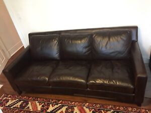 Urban Barn leather sofa