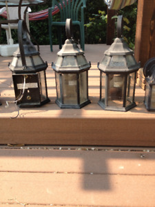 Black Exterior Wall Lantern with Clear Glass west Kelowna