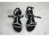 Diamonte & Black Sandals - PRICE REDUCED.