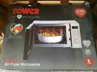 New never used tower air fryer microwave