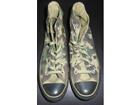 CONVERSE ALL STAR HIGH TOP TRAINERS CAMOUFLAGE DESIGN SIZE 6 - NEW