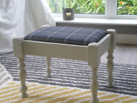 DRESSING TABLE STOOL. GREY.