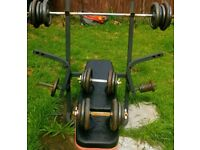 Two Weight Bench's, Bars and Over 130Kg Weights