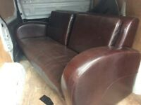 Brown leather sofa pet free smoke free home great condition