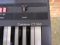 Casio keyboard CT 360 WITH STAND